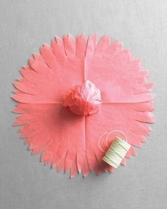 #1 Diy Paper Dahlia Flower ~ Party Decoration  - From Martha Stewart Weddings Favors