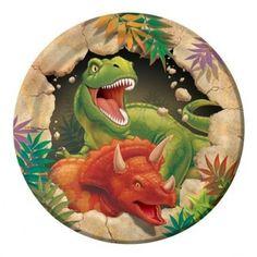 Platos Pasteleros Dinosaurios - Artículos de Fiesta
