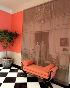 Photo mural at Greenbrier.  Creative use of dead wall space!