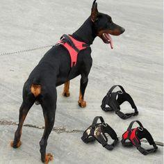 Perro grande Suave Ajustable Para Mascotas Arnés del Perro Grande Salir arnés Chaleco Cuello Correa de Mano para Los Perros Pequeños y Grandes Pitbulls