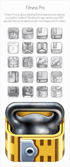 10+ Stunning Realistic iOS App Icons & Sketching for Inspiration