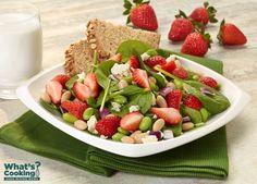 Strawberry, White Bean and Edamame Salad #fruit #veggies #dairy #MyPlate #WhatsCooking
