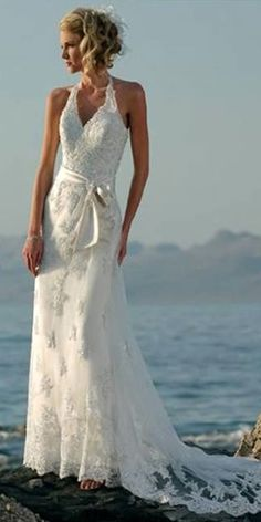 beach Wedding Dresses/perfect, love it, want in ivory!