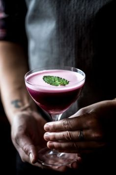 Blueberry, Dark Cherry and Calvados Cocktail | Foolproof Living #cocktailrecipes