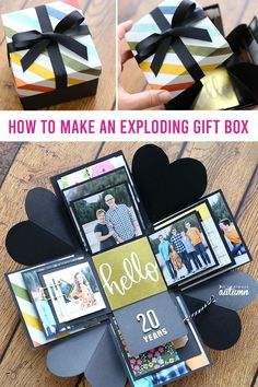 How to make an Explosion Box {cheap, unique DIY gift idea!} - It's Always Autumn - How to make an Explosion Box {cheap, unique DIY gift idea!} – It's Always Autumn How to make an Explosion Box {cheap, unique DIY gift idea!} – It's Always Autumn Foto Gift, Exploding Gift Box, Diy Foto, Picture Gifts, Picture Boxes, Photo Boxes, Diy Gift Box, Diy Crafts Box, Craft Box
