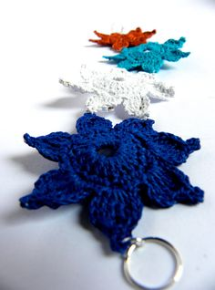 Crochet bracelet multicolor  navy's collection by Leccio51 on Etsy, €20,00