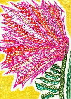 zentangle flowers | Click to view original