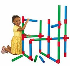 Life-Size Pipe Builders by Lakeshore Learning Materials. $69.99. Children build motor control, develop spatial reasoning, increase coordination and more. For ages 2-6 years. Set includes 24 pipes and 16 connectors for endless design possibilities. Kids will love building tons of towering structures with our large-scale pipe builders. Perfect for large-scale designs, our giant connecting pipe builders let children get physically active--while building colossal constructions! Our ...