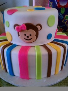 Monkey Baby Shower Cakes | Piece of Cake: Monkey Girl Baby Shower