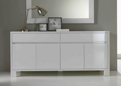 Simple, clean lines for this sideboard