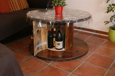 wooden cable spool tables