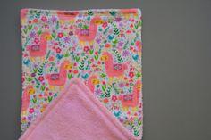 Burp Cloth  Baby Shower Girl Super Soft by SevenSeasStudios