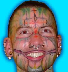 33 Ugly Face Tattoos That Anyone With a Brain Would Regret