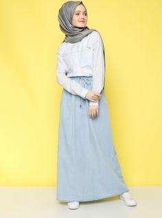 Denim Skirt - Light Blue - Benin