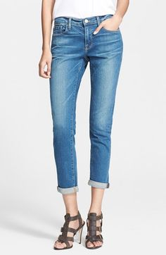 Frame Denim 'Le Garcon' Slim Cuffed Jeans (Berkley Square).  In search of the perfect boyfriend denim