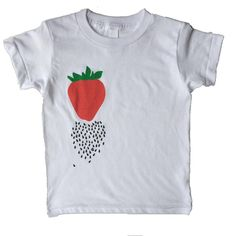 Strawberry Tee!  raining seeds. Sizes 6/12, 12/18, 2, 4, & 6 are AVAILABLE NOW in the Shop!!