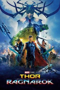 Thor (Chris Hemsworth) is imprisoned on the planet Sakaar, and must race against time to return to Asgard and stop Ragnarök, the destruction of his world, at the hands of the powerful and ruthless villain Hela (Cate Blanchett). Tessa Thompson, Thor Ragnarok Full Movie, Thor Ragnarok 2017, Chris Hemsworth Thor, Hindi Movies, Disney Pixar, Karl Urban, Mark Ruffalo, Movie Posters