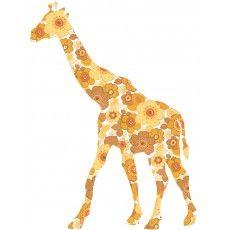 Sticker Giraffe - Ockerfarben