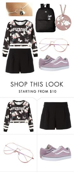 """Untitled #169"" by emilie-amazon ❤ liked on Polyvore featuring WithChic, Boutique Moschino and Vans"