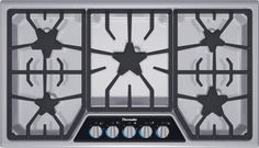36 inch Thermador Masterpiece® Series Gas Cooktop SGSX365FS $1900 #2 on Consumer Reports Summer 2012 Kitchen edition