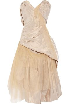 Bronze silk-taffeta and tulle dress by Vivienne Westwood Gold Label