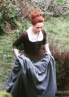 BTS with Sophie Skelton as Brianna Randall of Outlander_Starz Season 4 Drums of Autumn - February 19th, 2018