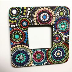 #SNSDESIGNS #handpainted #paintedwood #woodframe #homedecor #americanapaints #photo #photoframe #sifferent #dot #dots #dotart #dotartwork… Dot Art Painting, Mirror Painting, Mandala Painting, Stone Painting, Painting Frames, Mandala Canvas, Mandala Dots, Mandala Pattern, Diy Photo Frame Cardboard