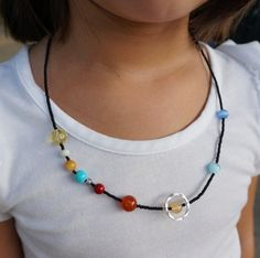 Solar System necklace for your budding scientist.