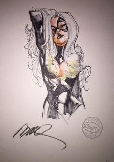 Black Cat by Humberto Ramos, in StephenDavidson's Commissions - Black Cat Sketchbook Comic Art Gallery Room