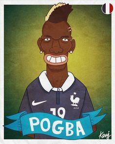 POGBA #10 FRANCE Worldcup 2014 caricatures - France by Keuj Bardoux, via Behance