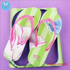 Summer sandal lady slipper 2017 New Holiday gift Customize slippers flip flops free shipping
