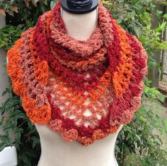 Crochet Scarf Road Trip Scarf Triangle Scarf by MooreThanBags, $22.95