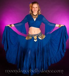 18d2bbcf8f998 Belly Dancer royal blue skirt ATS ren faire purple