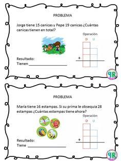 Problemas para I grado | Profe Yano Math 2, Math Class, Maila, Classroom Organisation, Math Facts, Kindergarten Worksheets, Business For Kids, Teaching Math, Fun Projects