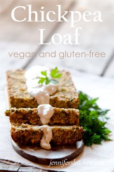 Chickpea Loaf - Vegan and Gluten-Free Veggie Dishes, Savoury Dishes, Veggie Recipes, Whole Food Recipes, Vegetarian Recipes, Healthy Recipes, Seitan Recipes, Chickpea Recipes, Veggie Food