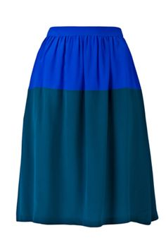 color block skirt. would look lovely with a white chiffon blouse! $322.00