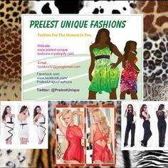 Website: www.prelest-unique-fashions.myshopify.com Facebook: www.facebook.com/PrelestUniqueFashions