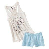 Disney® Juniors Tank & Short Sleep Set - Natural/Blue Lady
