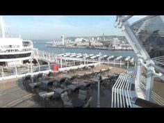 Cunard Queen Elizabeth Ship: tour of the decks and exterior. http://www.tipsfortravellers.com/cunard