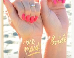 Wedding Tattoos Bridesmaid gift Bride Tribe © by DaydreamPrints