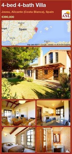 4-bed 4-bath Villa in Javea, Alicante (Costa Blanca), Spain ►€390,000 #PropertyForSaleInSpain