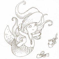 Cahier de coloriage Cap Canaille Louise la Sirène - 80 pages