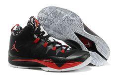 New Black/Bright Crimson-Gym Red-White Jordan Super. Nike Kids Shoes, Kd Shoes, Nike Shoes For Sale, New Jordans Shoes, Grey Shoes, Air Jordans, Cheap Jordans, Asics Shoes, Cheap Jordan Shoes