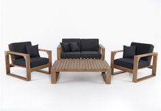 Complete your outdoor area with a classic timber setting from Amart Furniture. Outdoor Lounge, Outdoor Chairs, Outdoor Living, Outdoor Decor, Outdoor Ideas, Timber Furniture, Kitchen Furniture, Outdoor Furniture Sets, Lounge Suites