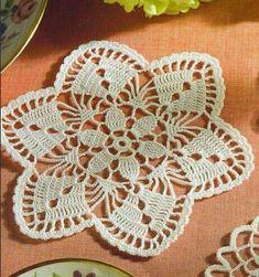 Miniature crochet round doily
