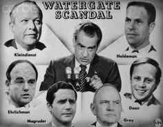 In 1972, the Watergate scandal that forced Nixon to resign took place. Five men arrested for the burglary of the Democratic National Committee headquarters at the Watergate office complex in Washington, D.C.