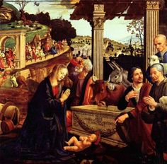 Adoration of the Shepherds, Domenico Ghirlandaio, 1485 Bible Art Gallery: Artworks from the Old and New Testaments