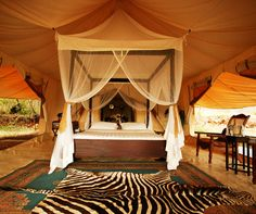 Journeys by Design is known for luxe accommodations, such as this beautifully appointed tent at Cottars Safari Camp in Kenya. Luxury Tents, Luxury Camping, Luxury Travel, Tumblr Ocean, Ralph Lauren Safari, Travel Outfit Spring, Safari Chic, Jungle Safari, British Colonial Style
