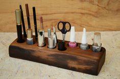Kosmetik Organizer aus Holz Make-up Veranstalter in von WoodRestart