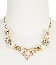 kate spade new york Pearl Bouquet Gold Plated Collar Necklace #Dillards